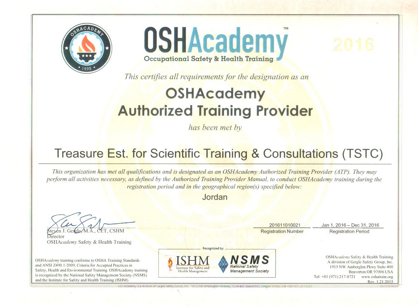 list of oshacademy certified programs courses and workshops